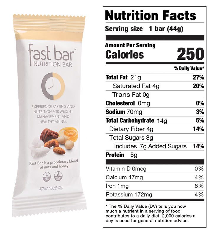 Honey and Nuts Fast Bar Nutritional Info